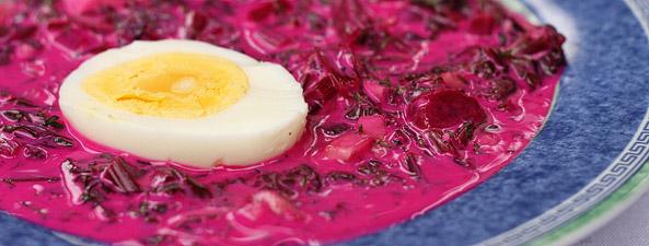 Chłodnik z botwinką i jajkiem
