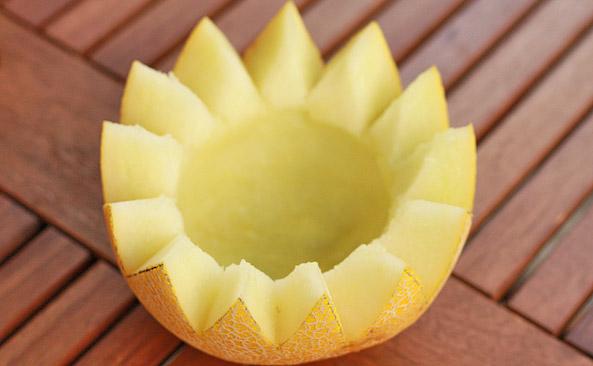 Wydrążony melon