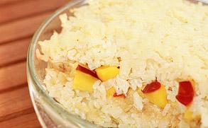Ryż zapiekany z owocami